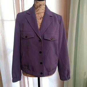 Anne Klein Lilac Casual Front Button Snap Jacket